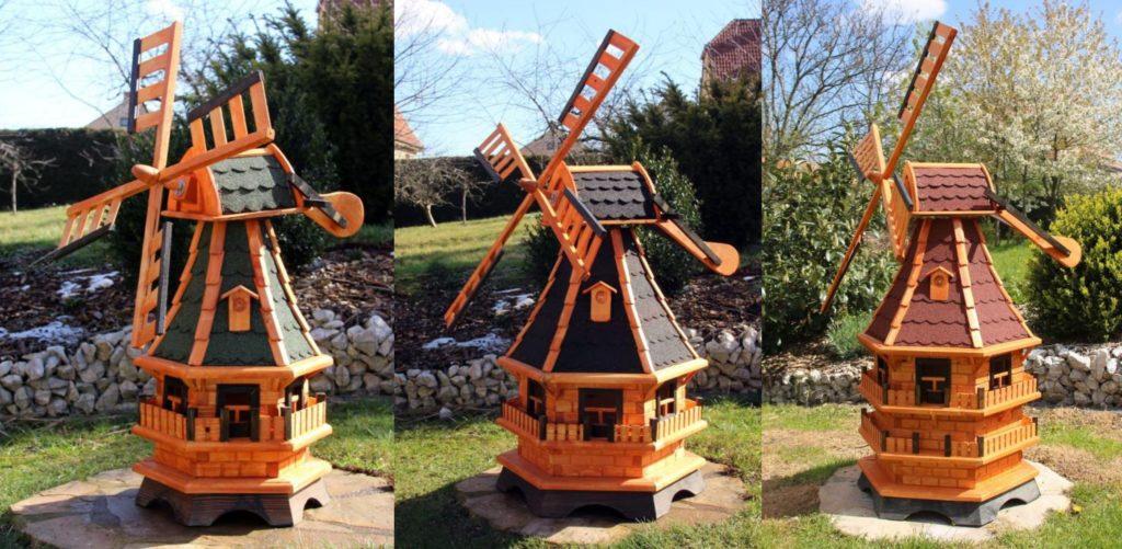 Gartenwindmühlen vom Holzdekoladen