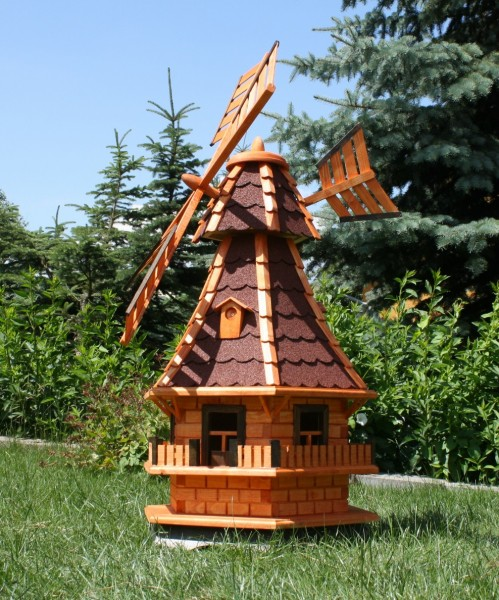Große Holzwindmühle mit Windfahne Typ 6.1