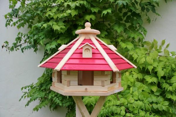 Vogelhaus aus Holz rot Typ 20 reduziert