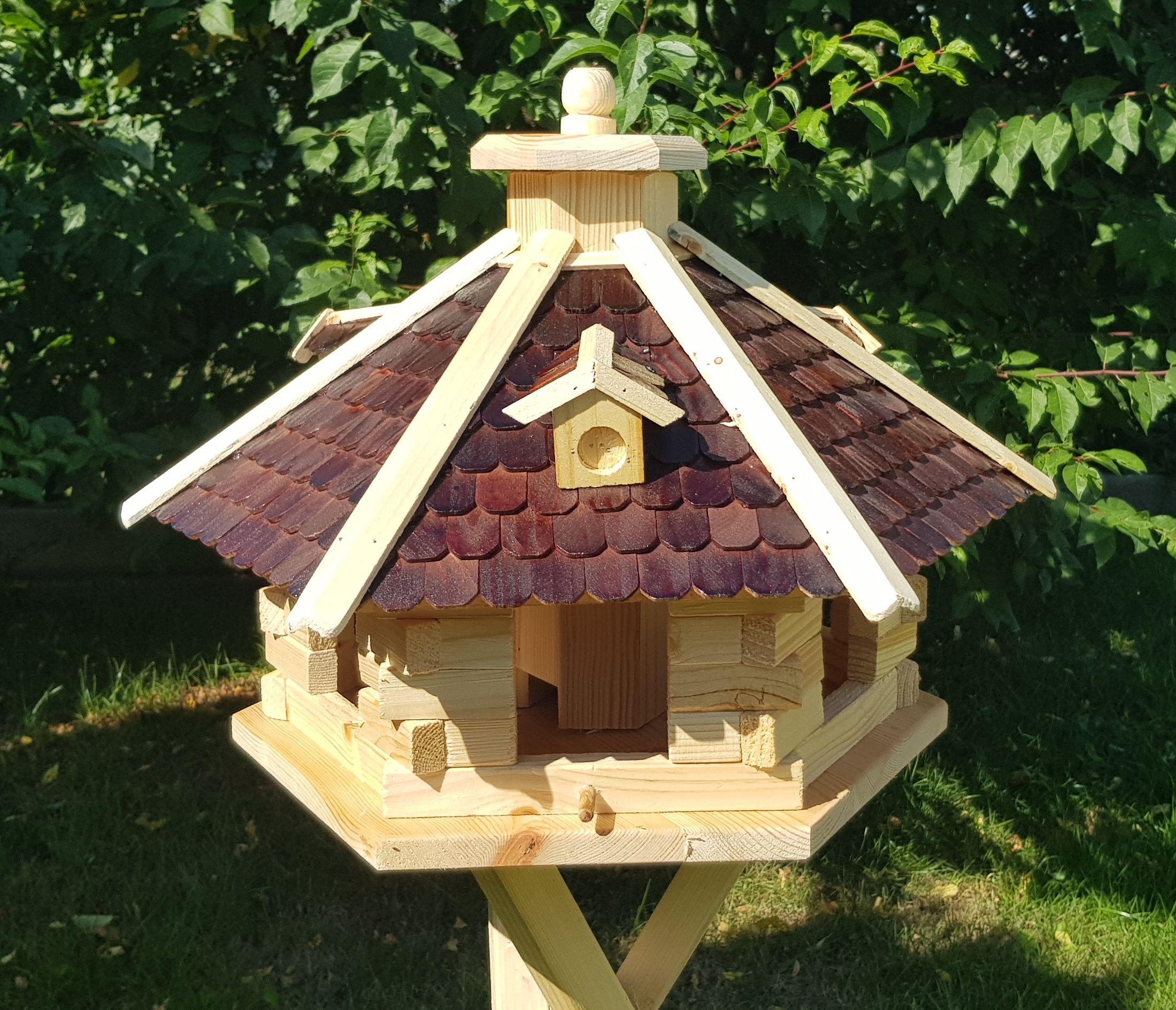Vogelhaus mit Holzschindeln behandelt Typ 26 Gr/ün