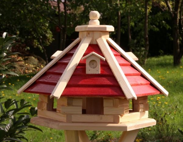 Hübsches Vogelhäuschen mit Holzlamellen Typ 21