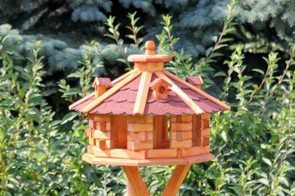 Achteckiges Luxusvogelhaus mit Solar Typ 6