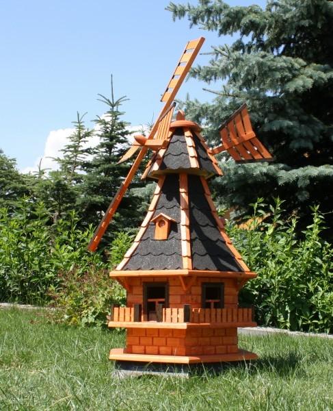 Große Gartenwindmühle mit Solar und Windfahne Typ 6.1