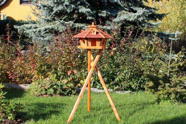 Holzvogelhaus mit Ständer und Solar Typ 17