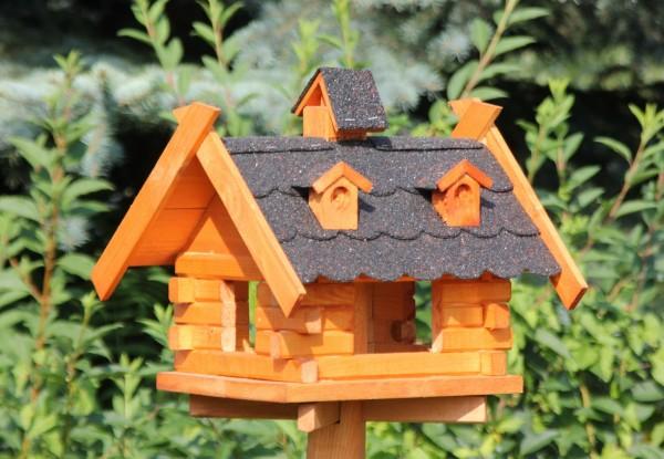 Echtholzvogelhaus mit Solar Typ 8