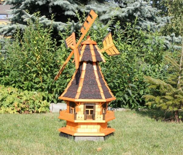 Preisreduzierte Gartenwindmühle mit Solar Typ 4