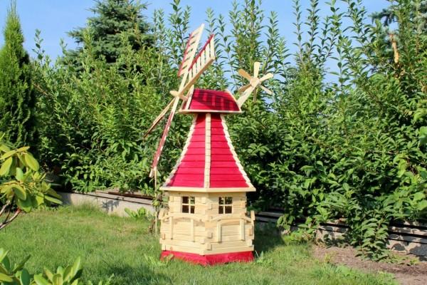 1,40 m große Gartenwindmühle mit Solar Typ 15