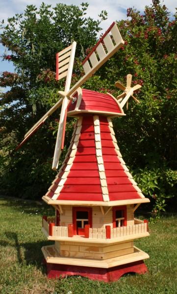 Große Holzwindmühle mit Solar Typ 3