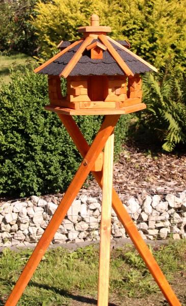 Vogelhaus mit Ständer und Solarbeleuchtung Typ 4