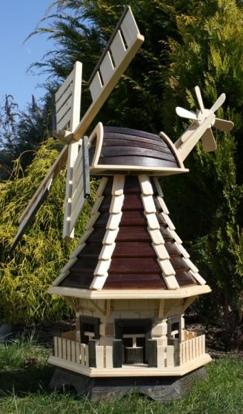 Holzwindmühle braun/natur Typ 1