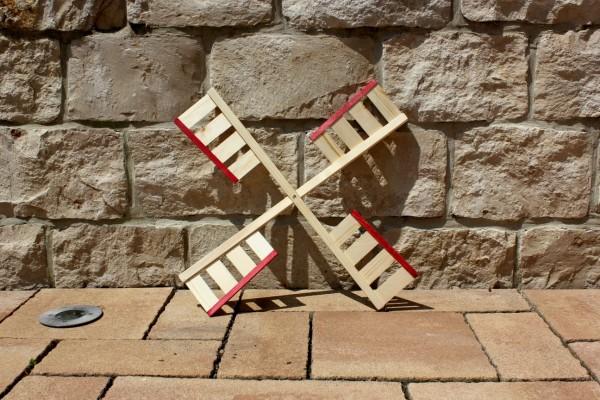 Windmühlenflügel natur/rot 65 cm