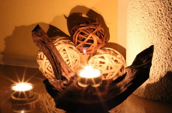 Mangrovenwurzel-Kerzenständer einflammig