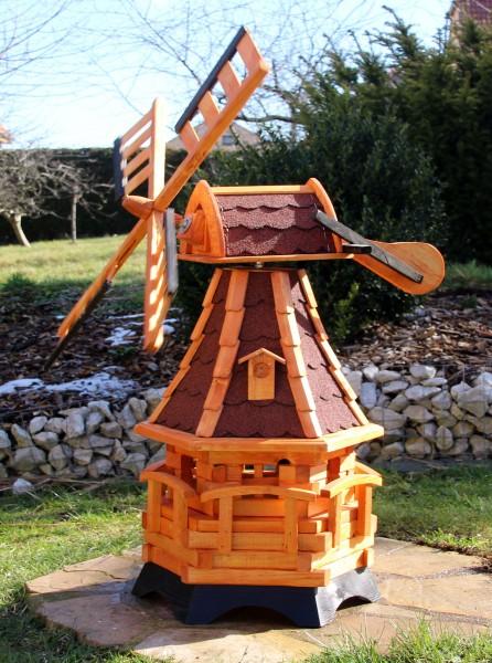 Holzwindmühle mit Solar Typ 19.1