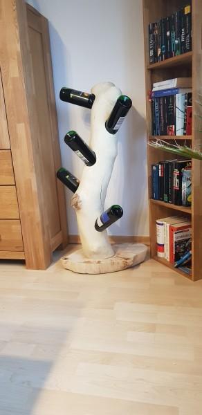 Handgefertigter Weinständer aus Ahorn