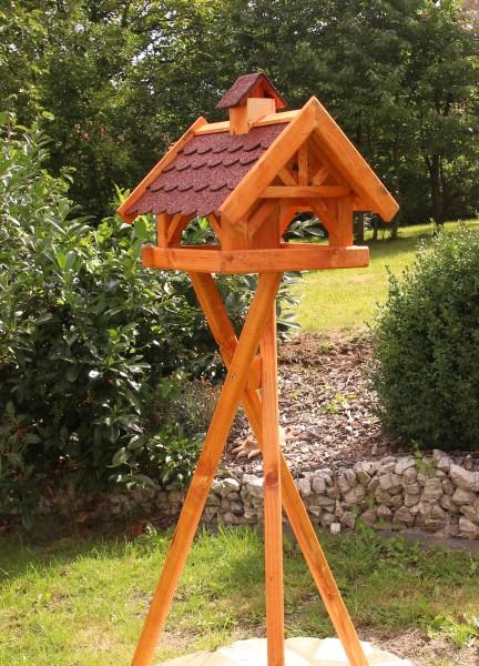Fachwerkvogelhaus mit Ständer und Licht Typ 33