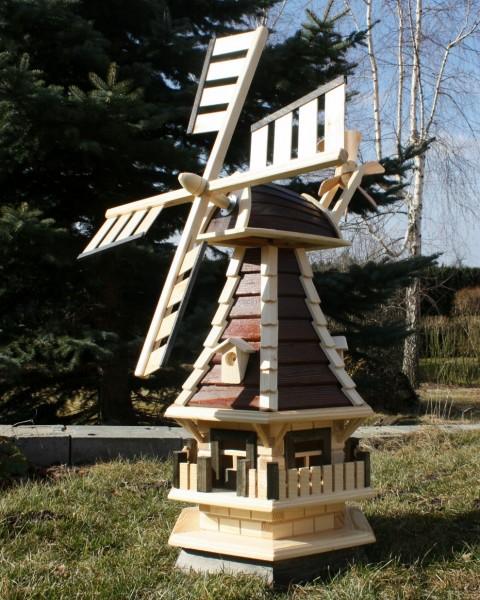 Schöne Gartenwindmühle mit Solar Typ 2.1