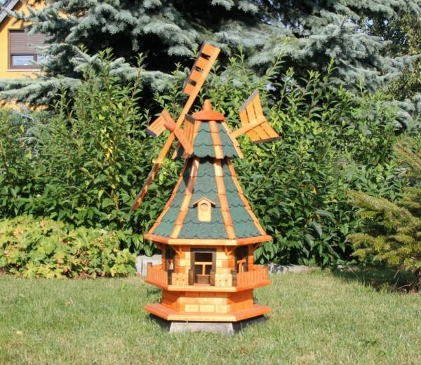 Gartenwindmühle mit Beleuchtung und Windfahne Typ 4.1