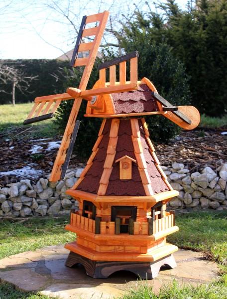 Holzwindmühle mit Solarlicht Typ 17.1