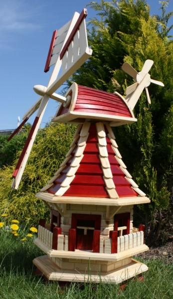 Windmühle mit Solarbeleuchtung Typ 2