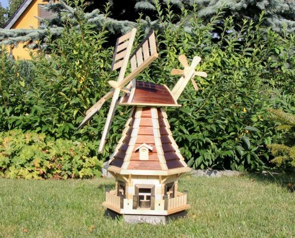 Gartenwindmühle mit Ziergauben Typ 1.1
