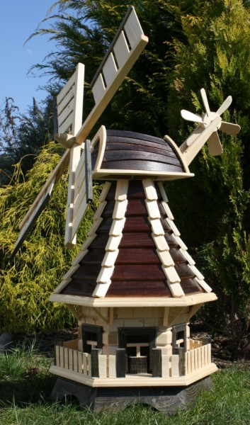 Romantische Windmühle mit Solarbeleuchtung Typ 1