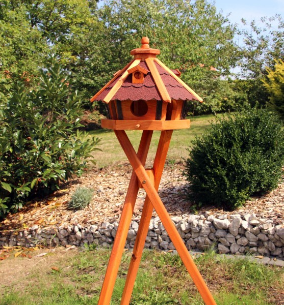 Holzvogelhaus mit Ständer Typ 23