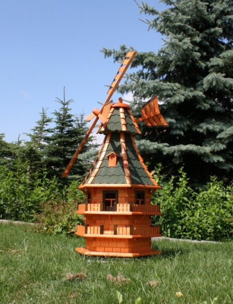 1,50 m große XXL Windmühle mit Solar Typ 14.1