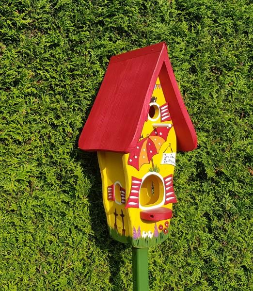 "Minivilla 1 ""Gartenlaube"" Gelb Bin im Garten"