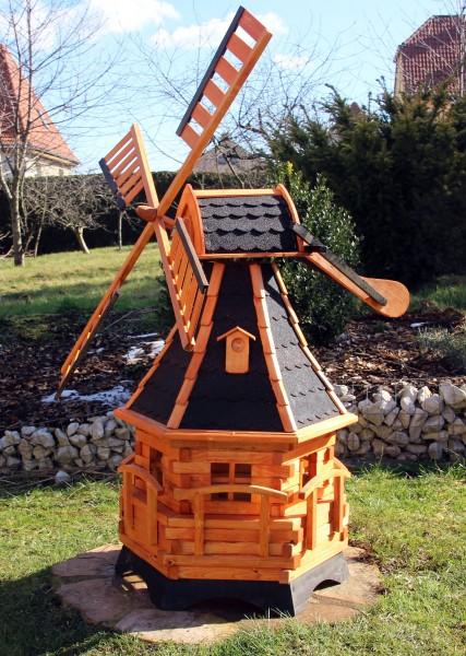 Große Holzwindmühle mit Solarlicht Typ 20.1