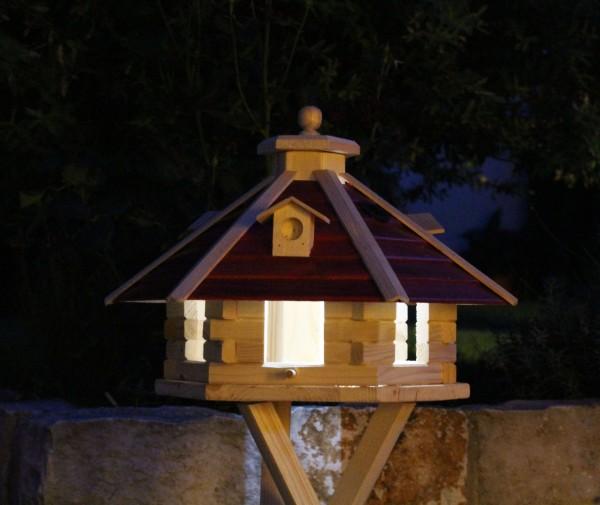 Vogelvilla aus Holz mit Solar Typ 20