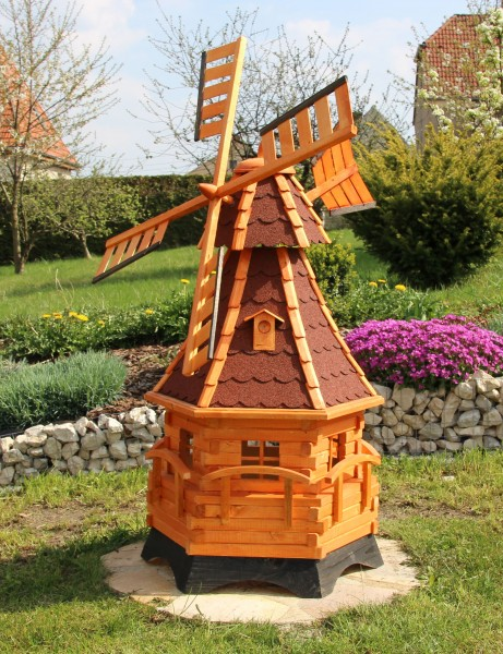 Große Holzwindmühle mit LED-Beleuchtung Typ 12.1