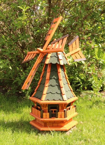 Holzwindmühle mit Solar und Windfahne Typ 4