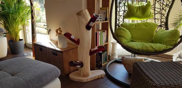 Handgefertigter Weinständer aus Ahorn 80cm