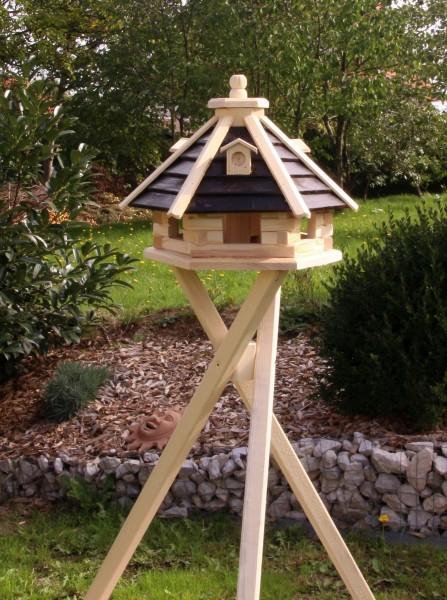 Holzvogelhäuschen mit Ständer Typ 21
