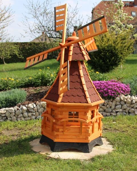 Große Windmühle mit Solarbeleuchtung Typ 12