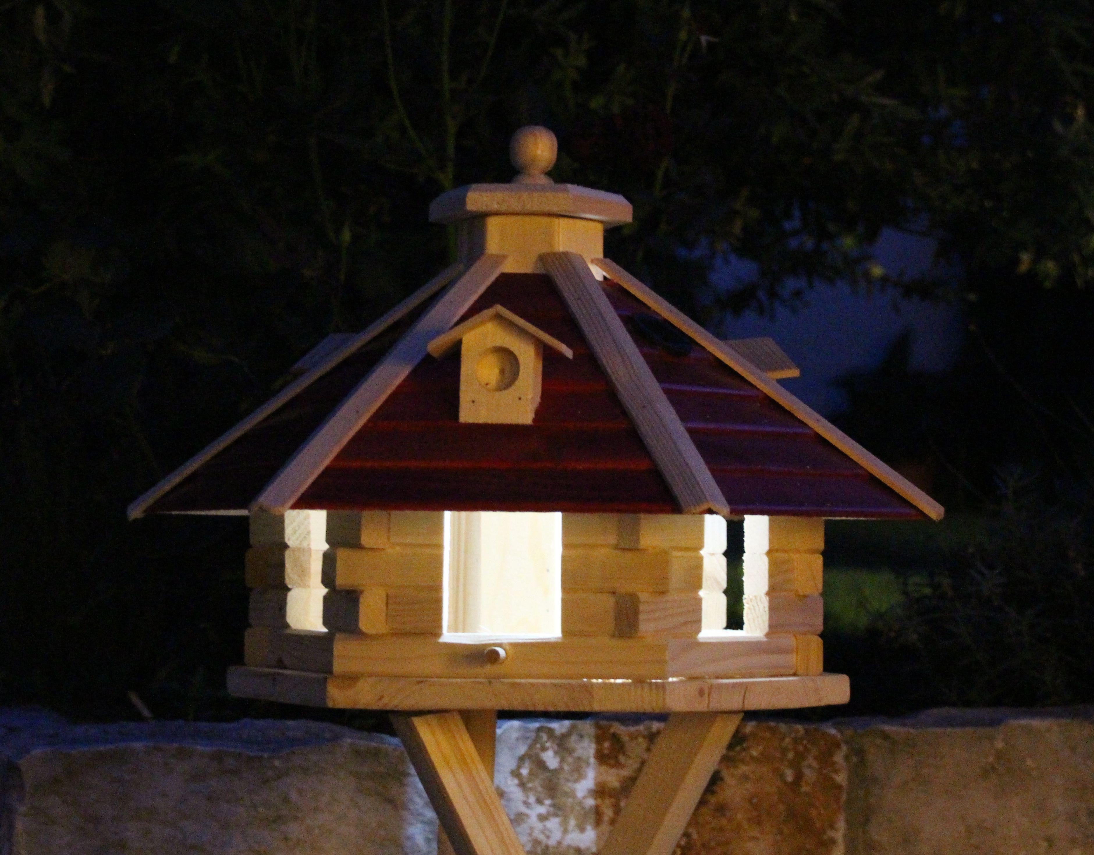 vogelhaus mit solarbeleuchtung | holzdekoladen.de