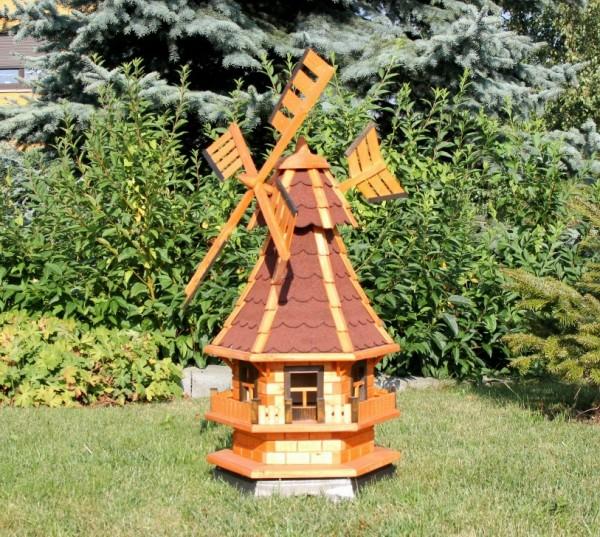 Preisreduzierte Gartenwindmühle mit Solar Typ 4 rot