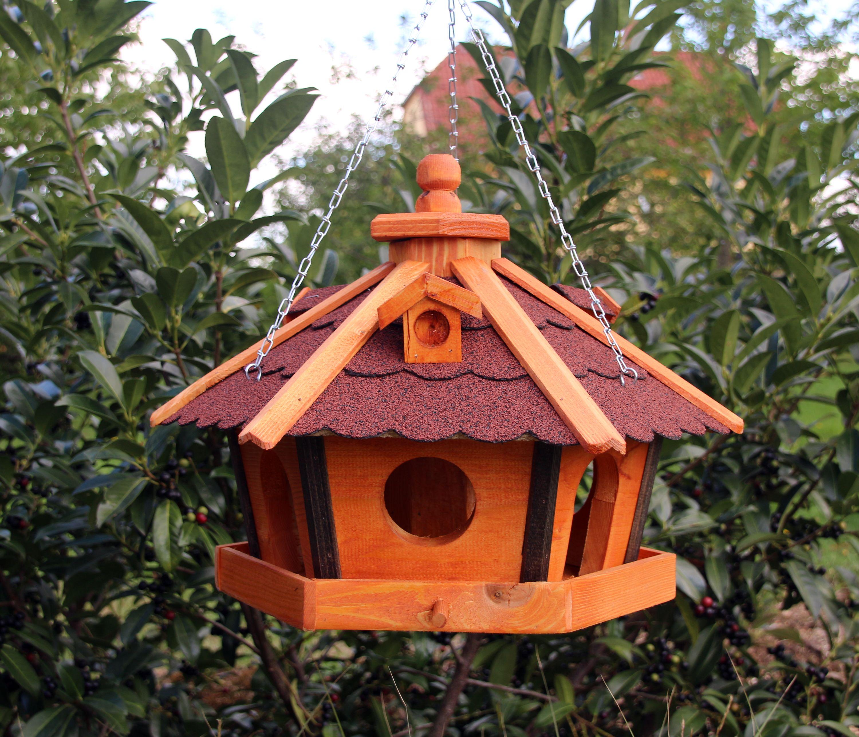 Wandhalterung Wandhalter für Vogelhäuser Vogelhaus aus imprägnierten Holz Braun