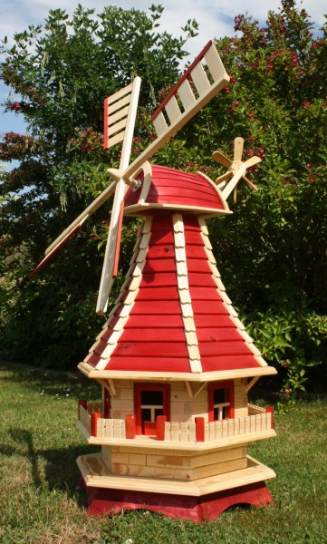 Supergroße Windmühle rot/natur Typ 3