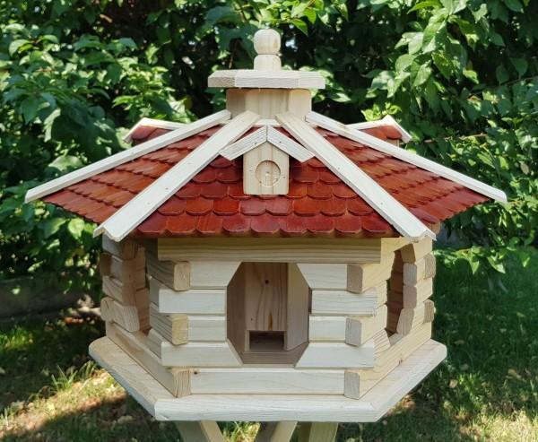 Großes Vogelhaus mit Beleuchtung und Holzschindeln Typ 38